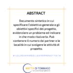 Il glossario dell'Europrogettista: ABSTRACT