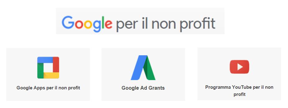 Opportunità per le no profit: Google e servizi
