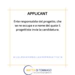 Il glossario dell'europrogettista: APPLICANT