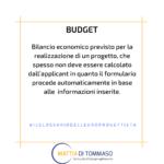 Il glossario dell'europrogettista: BUDGET